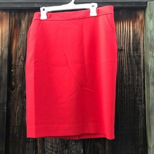 Trina Turk Red Pencil Skirt